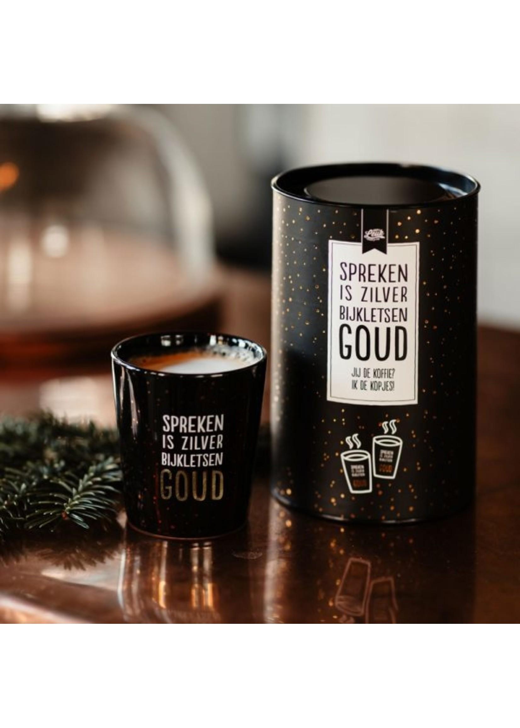 100% Leuk Spreken is zilver bijkletsen goud - Koffiekopjes