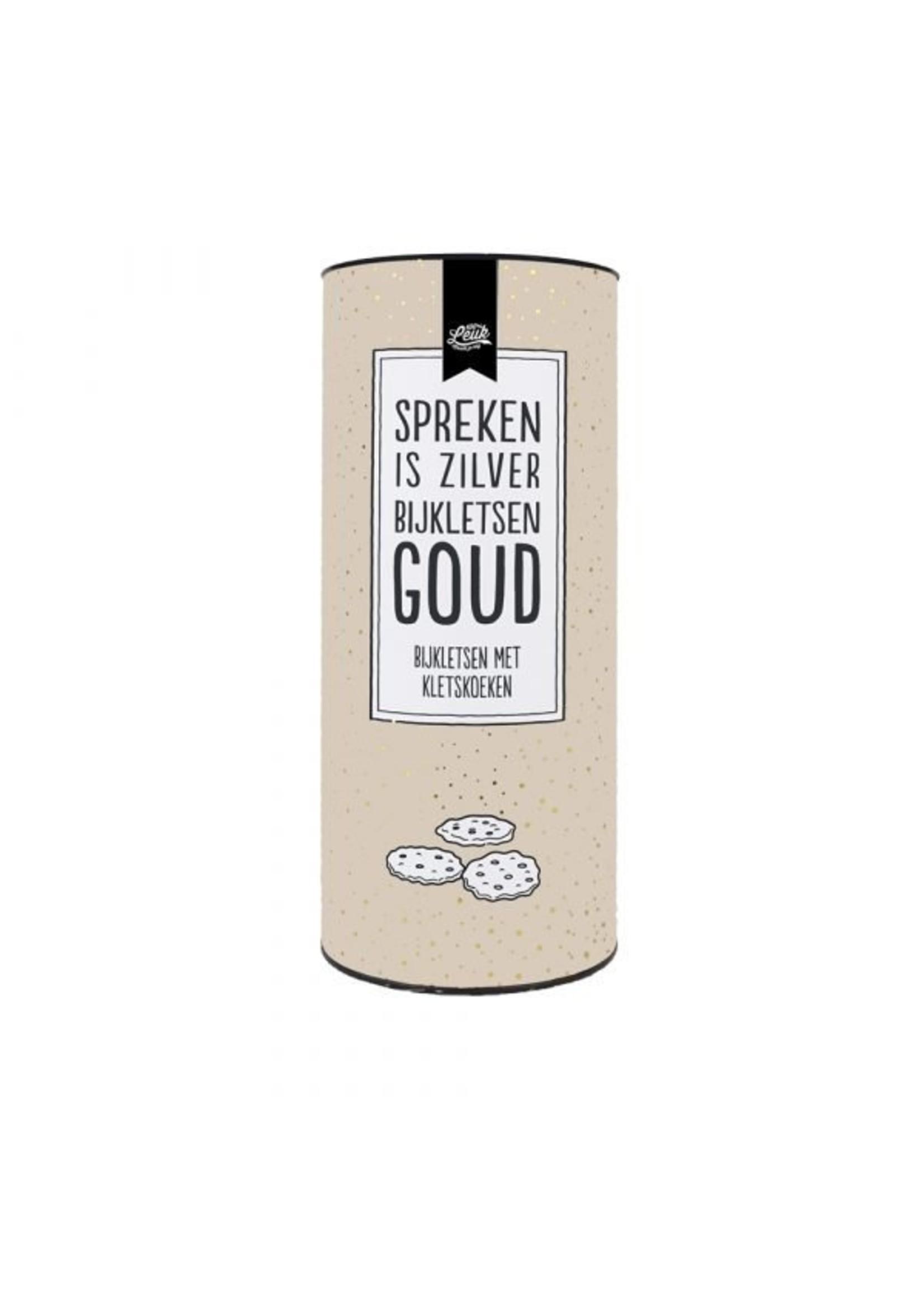 100% Leuk Spreken is zilver bijkletsen goud - Kletskoeken