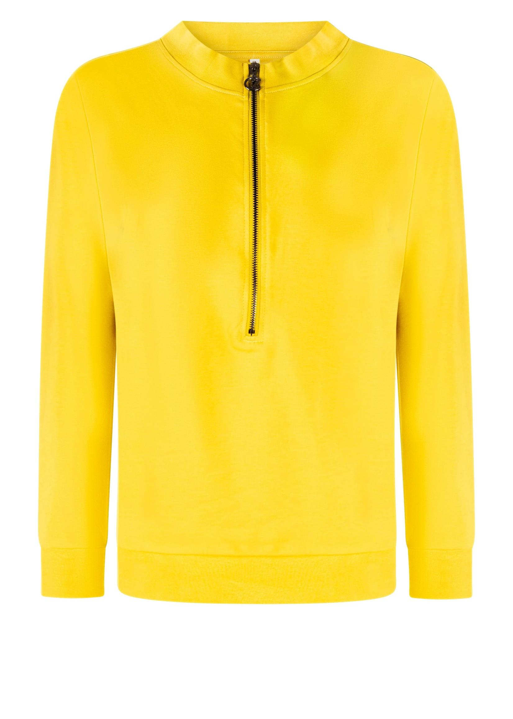 Zoso Zendra Zipper sweater with techprint