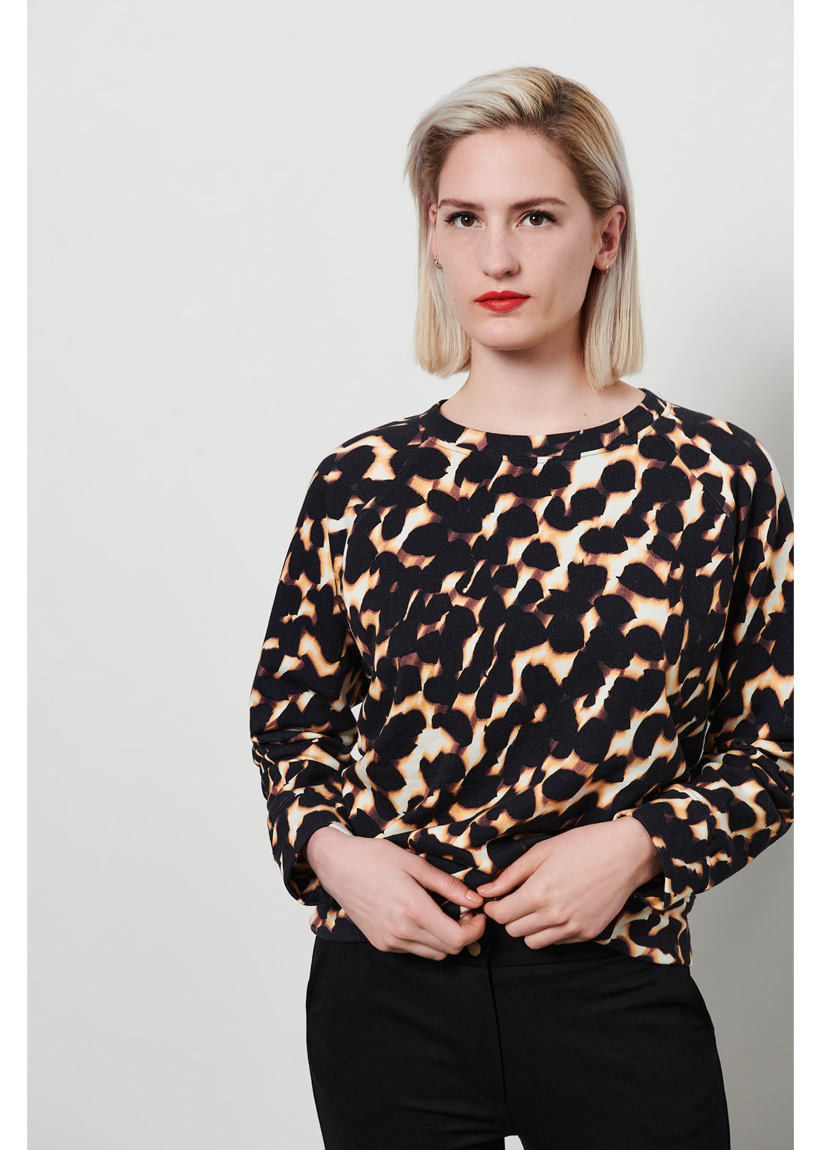 &Co Women cara sweater faded dot (m.black)