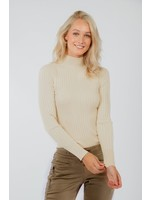 Red Button Turtle neck top