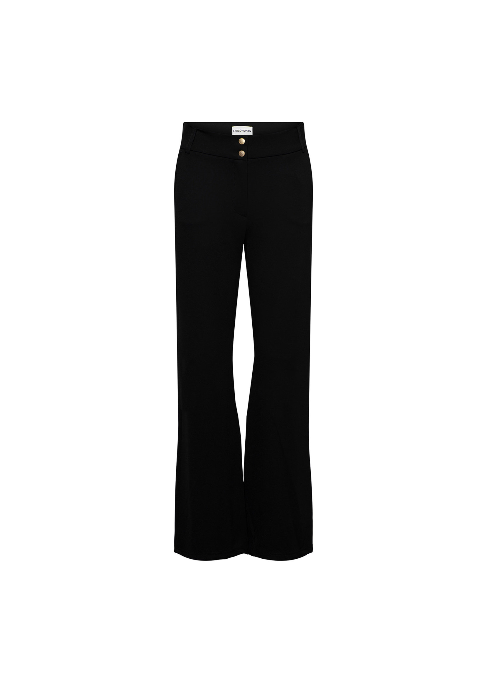 &Co Women dove wide leg pants (black)
