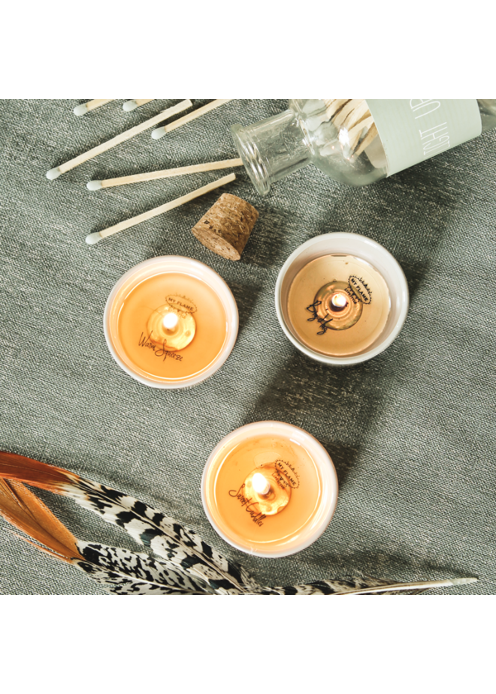 My Flame Surprise soy candles White-You rock, You are gold, You are amazing
