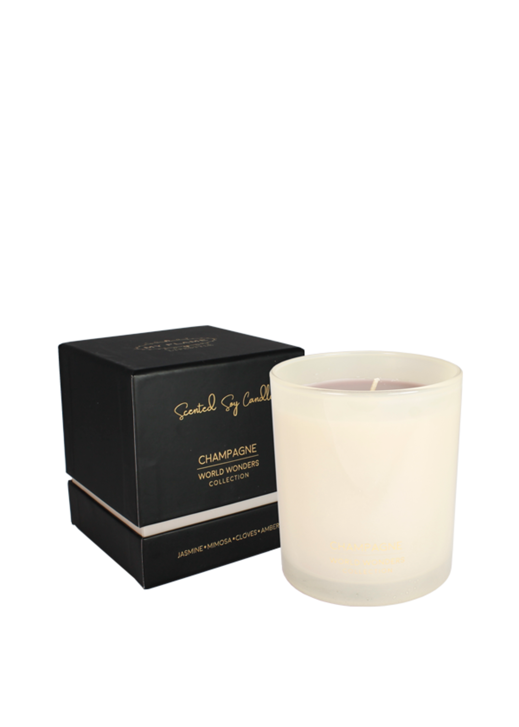 My Flame Scented soy candle in glass jar White 35 hours
