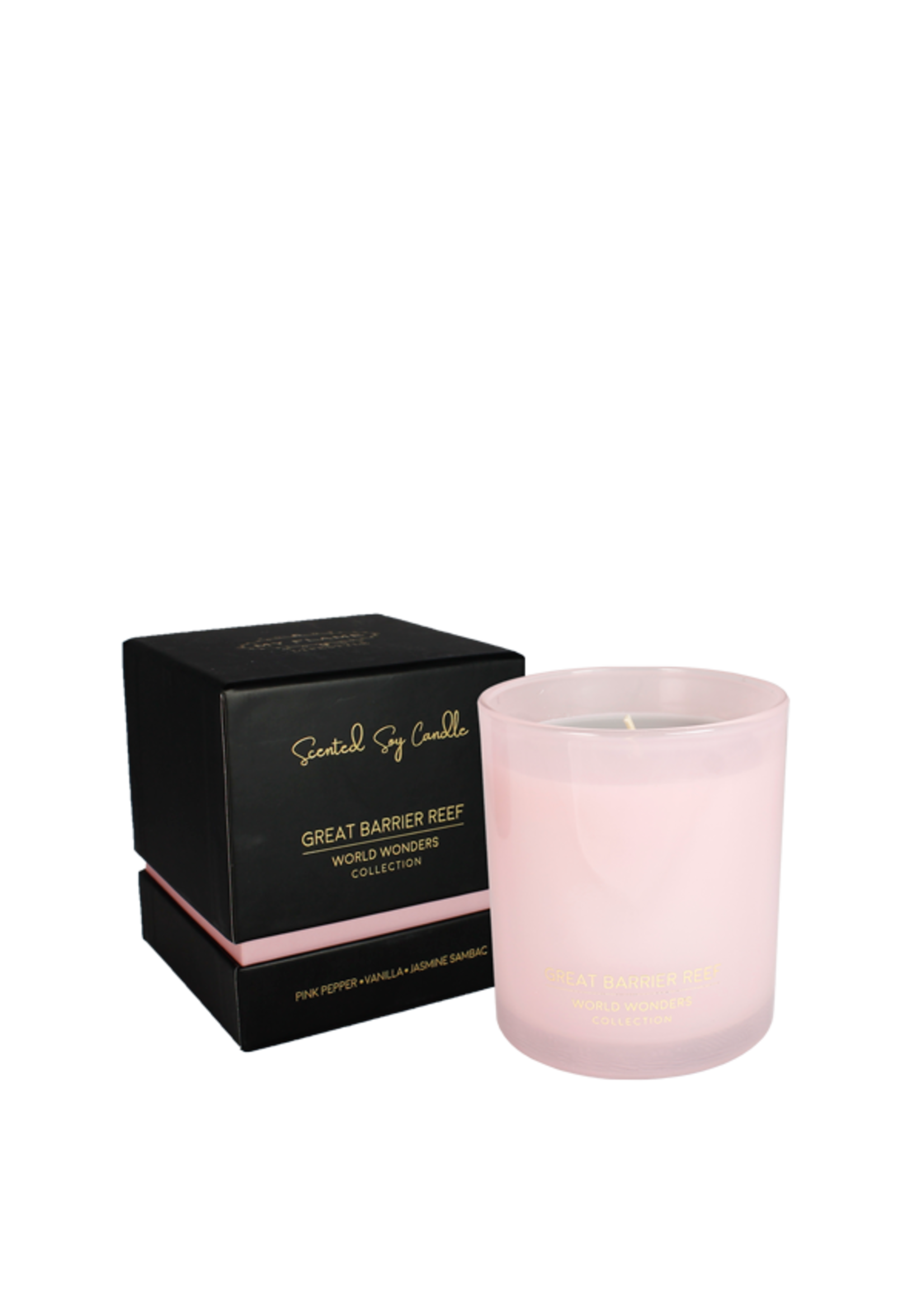 My Flame Scented soy candle in glass jar Pink 35 hours