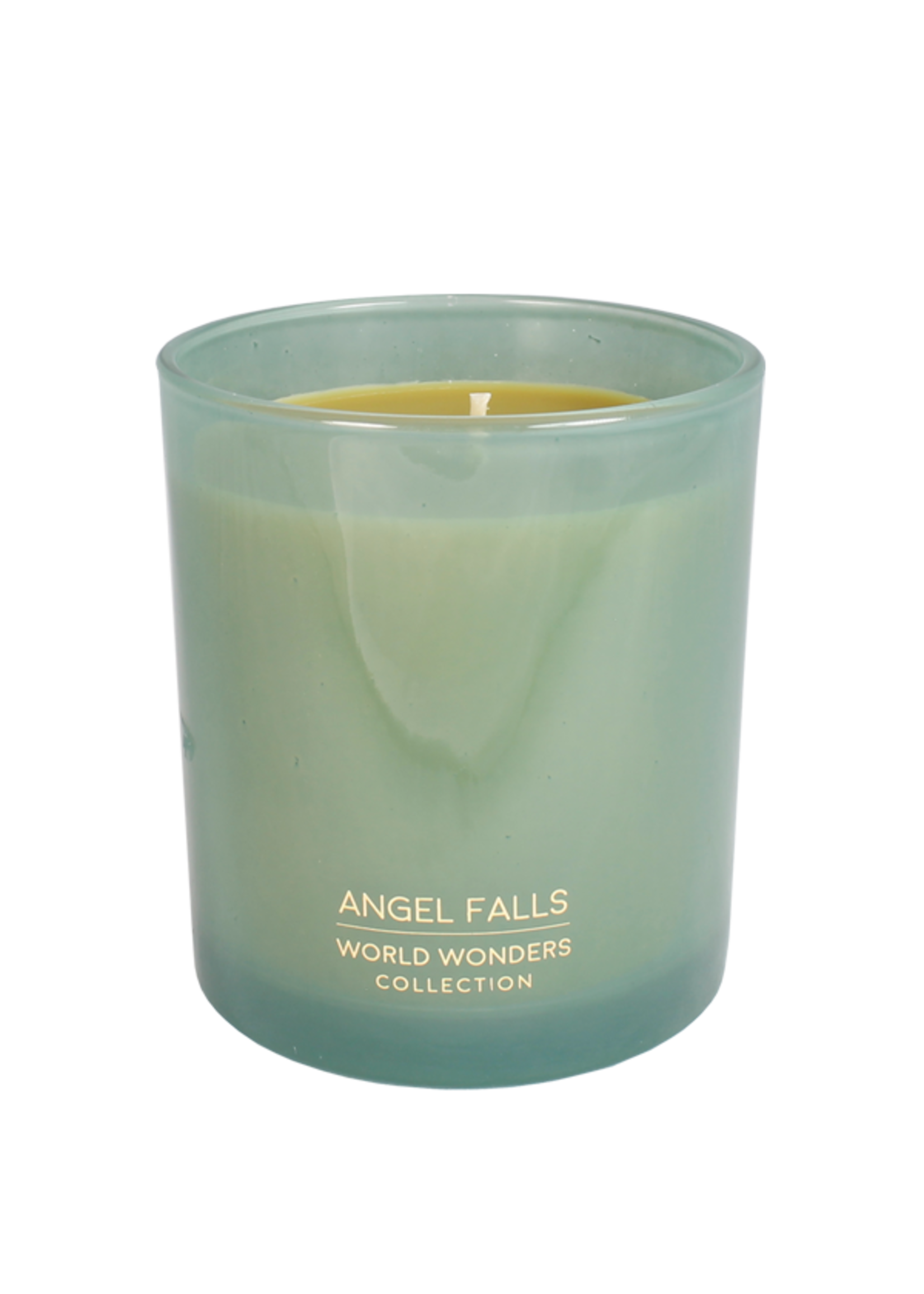 My Flame Scented soy candle in glass jar Green 50 hours