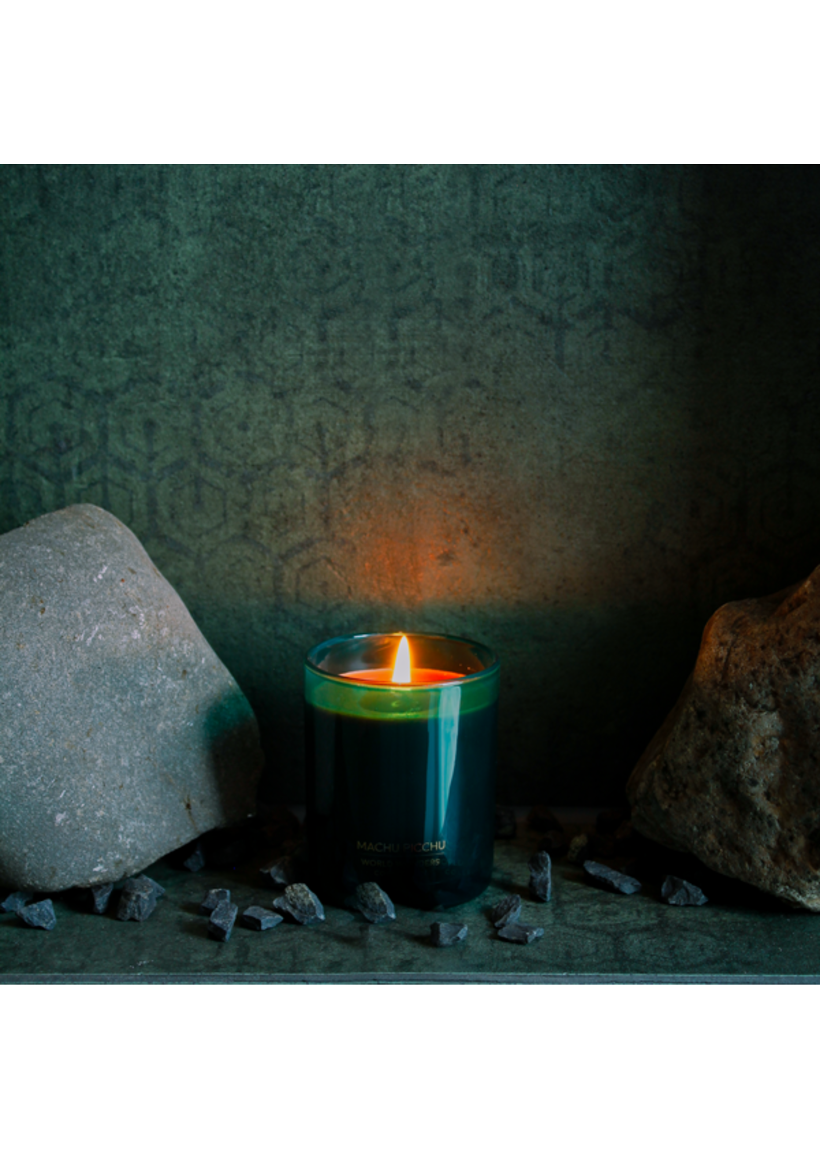 My Flame Scented soy candle in glass jar Petrol 35 hours