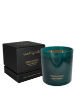 My Flame Scented soy candle in glass jar Petrol 70 hours