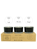 My Flame Surprise soy candles Black-Congratz, Champagne, Make a wish!