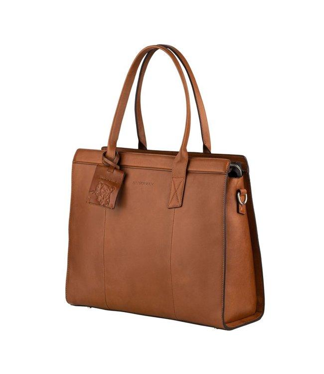BURKELY Praktische handtas met laptop sleeve.