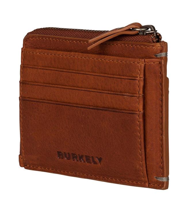 BURKELY Betaalpashouder met briefgeld en muntgeld vak.