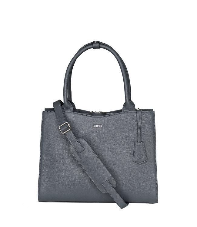 SOCHA Elegante handtas met uitneembare laptop sleeve.
