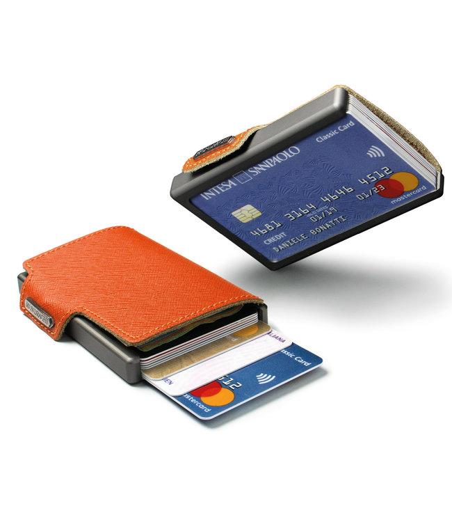 MONDRAGHI Saffiano Stitched Magic Wallet betaalpashouder