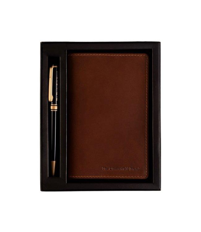 The Chesterfield Brand Mooie pen met notitieboekje.