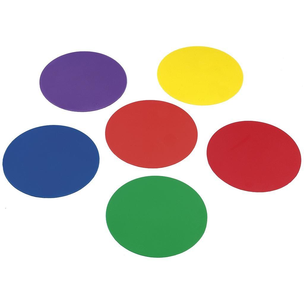 Rubberen markeerschijven gekleurd (set van 6)-1