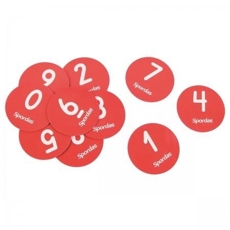 Set van 10 genummerde markeerschijven-1