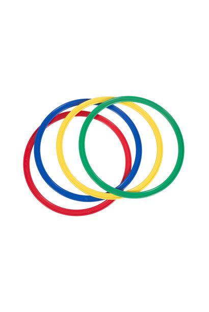 Set van 4 platte ringen