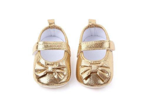 Gouden sandalen -  strikje