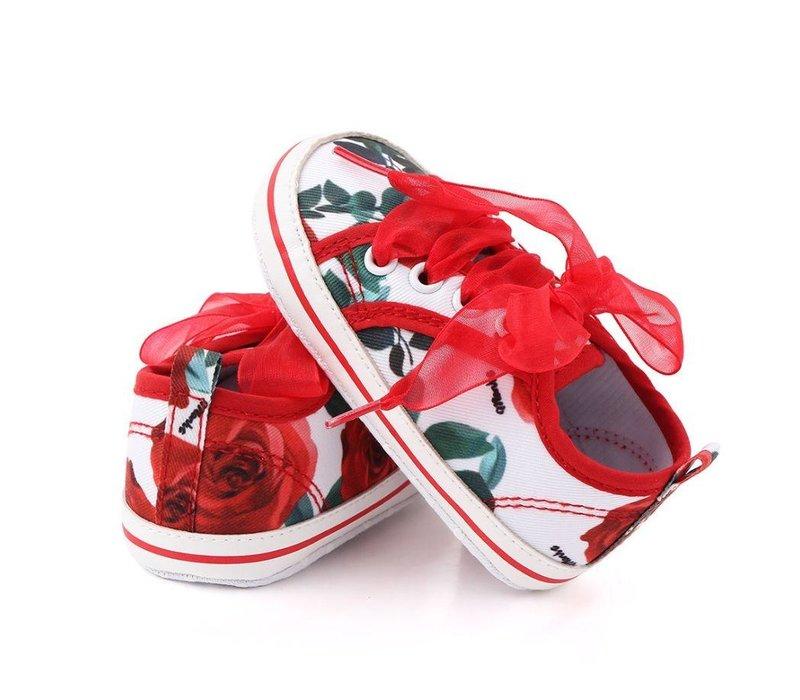 Veterschoen - rode rozen