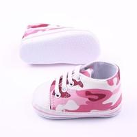 Veterschoen - legerprint- roze