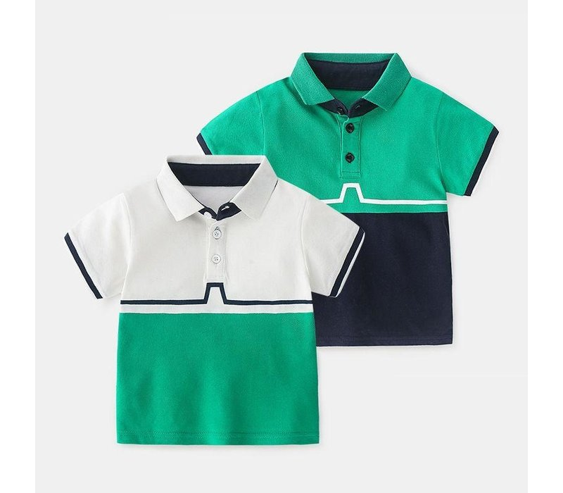 T-shirt - groen - zwart