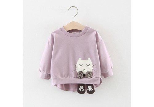 Sweatshirt - poes - paars