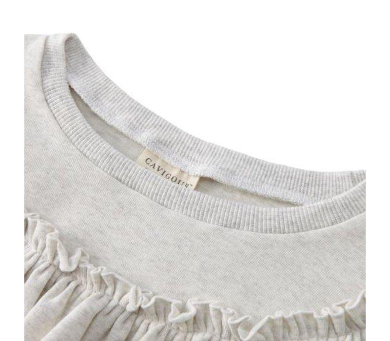 Sweatshirt - grijs - ruffle