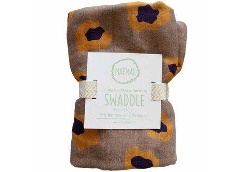 MaeMae Swaddle - rusty leopard