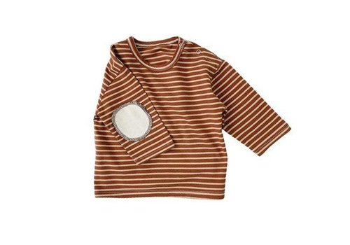 Sweatshirt - gestreept - bruin