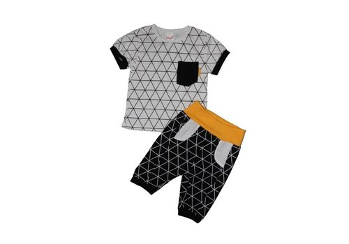 Set - driehoekspatroon - zwart/wit