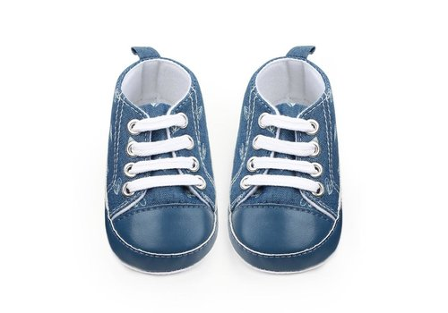 Veterschoenen - jeans - hartjes