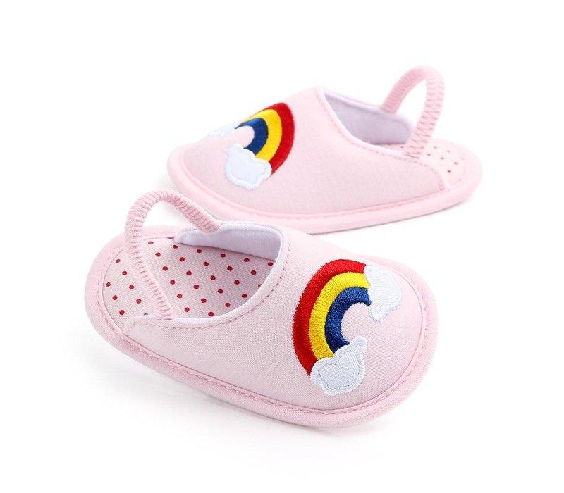 Pantoffels - rainbow
