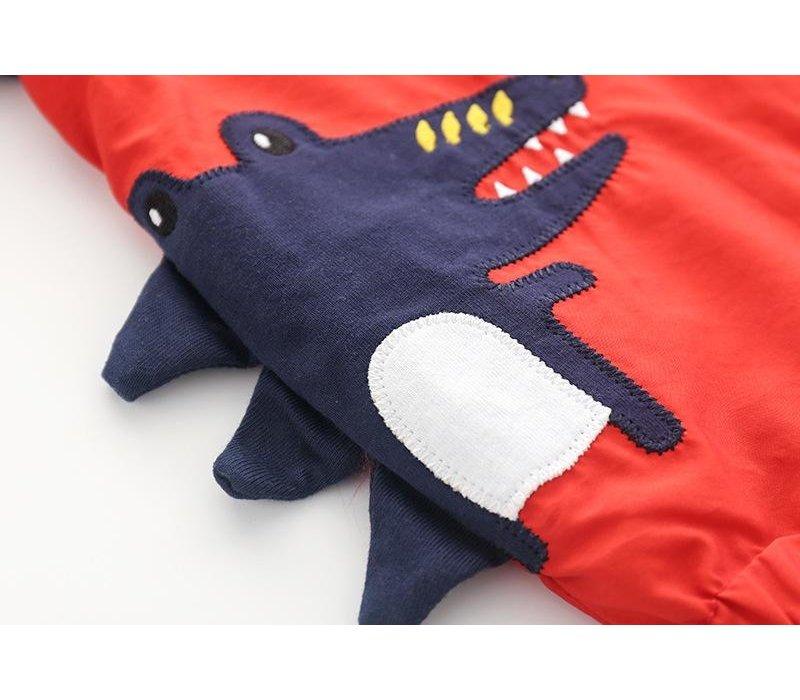 Regenjas - rood - krokodil