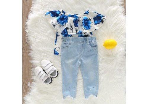 Set - ruffle shirt -  broek