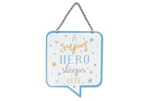 Clayre & Eef Tekstbord - a super hero