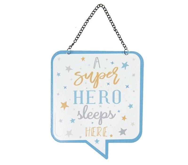 Tekstbord - a super hero