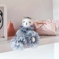 Decoratieknuffel - blauwgrijs