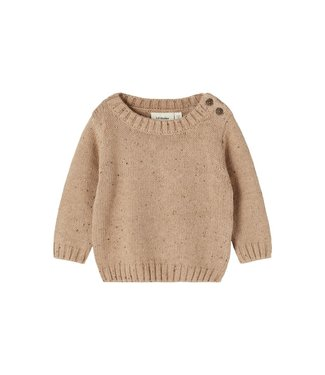 Lil Atelier Egalto LS Knit Tobacco Brown