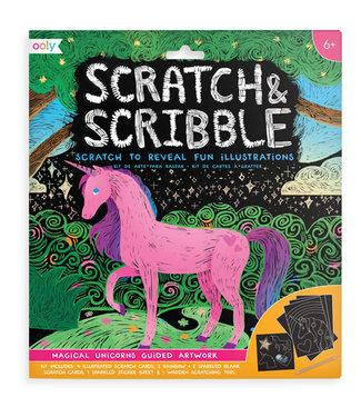 Janod Janod - Scratch & Scribble 'Magical Unicorns'
