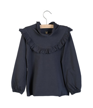 Little Hedonist Ruffled Longsleeve Lucy Blue Graphite
