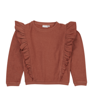 Blossom Kids Volant Sweater Deep Coral
