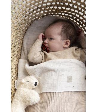 Nanami Baby blanket 2x2 rib Naturel