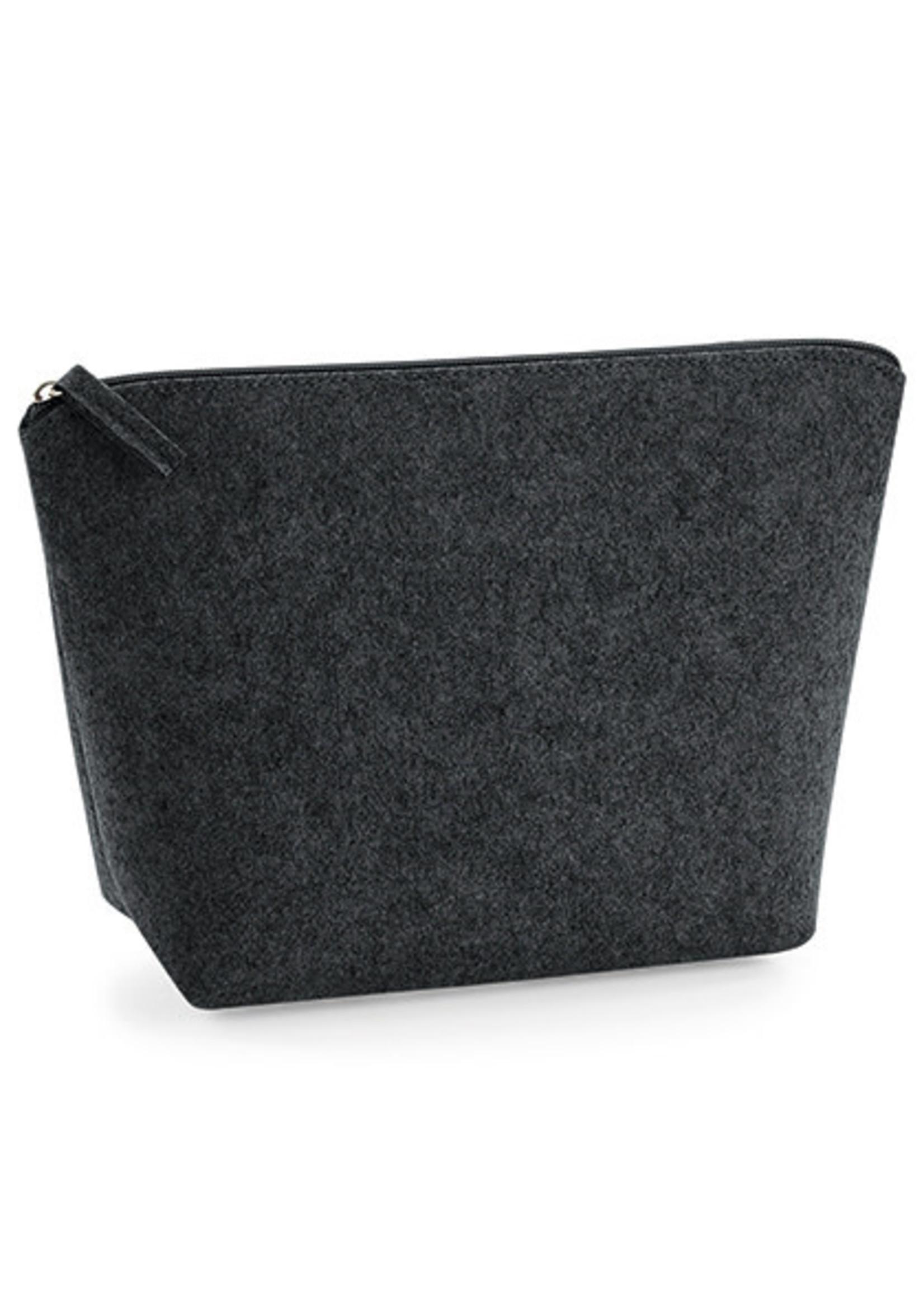 Felt Accessory Bag - Charcoal Melange - S
