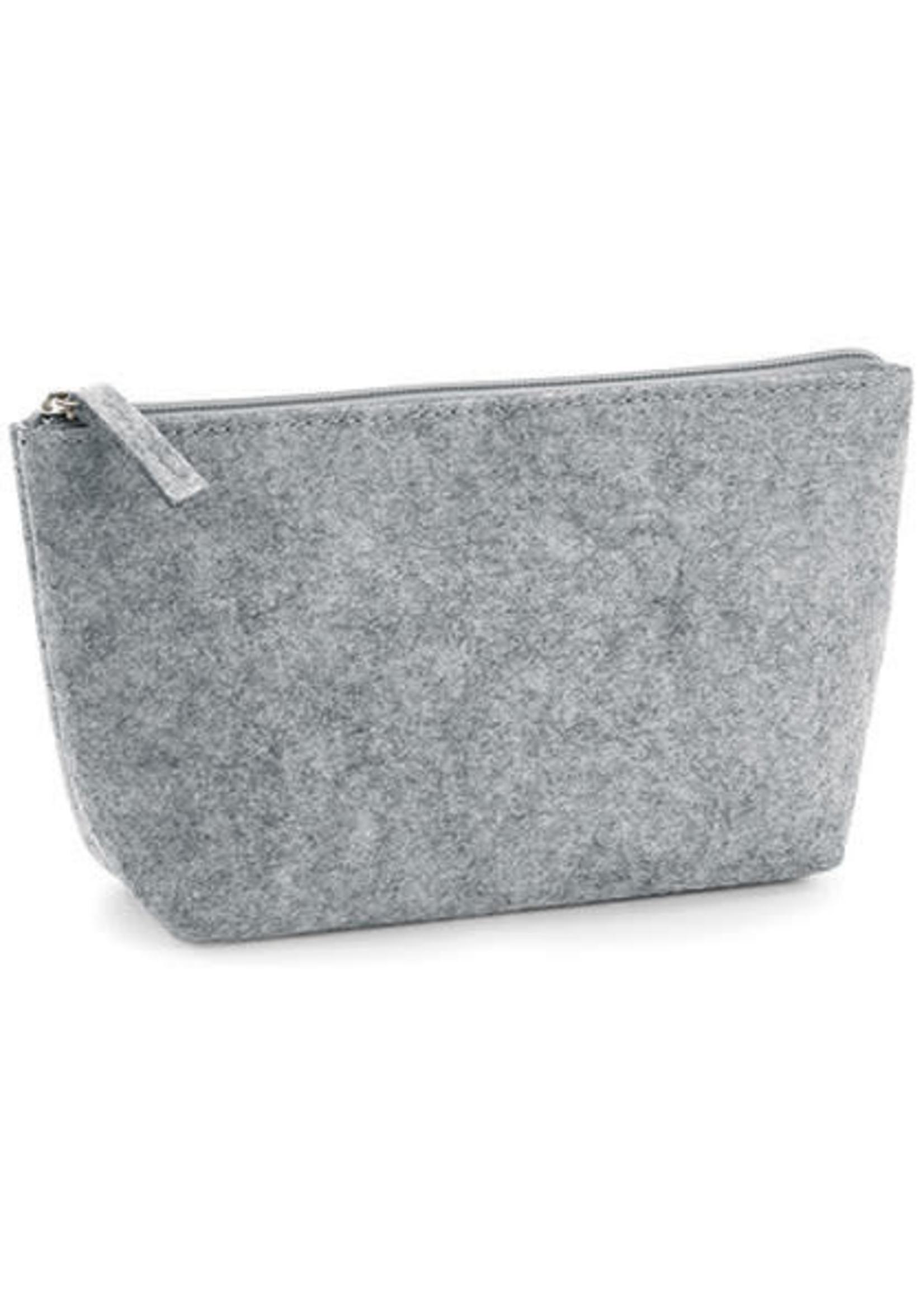 Felt Accessory Bag - Grey Melange - S