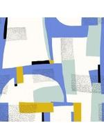 Katia Gold Canvas Abstract Aqua