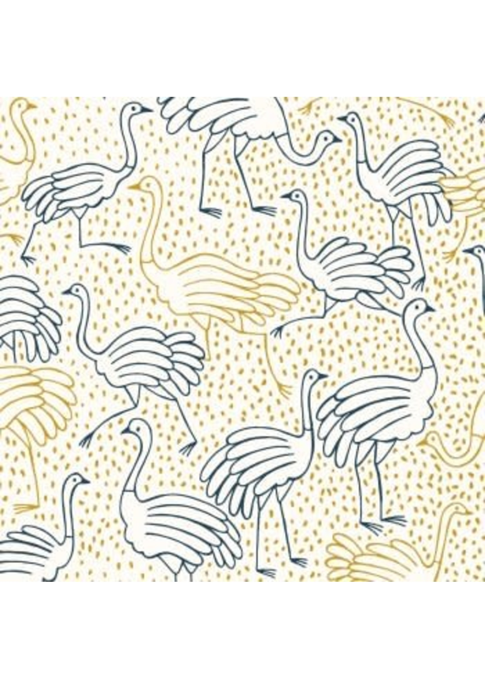 Katia Gold Canvas Ostrich