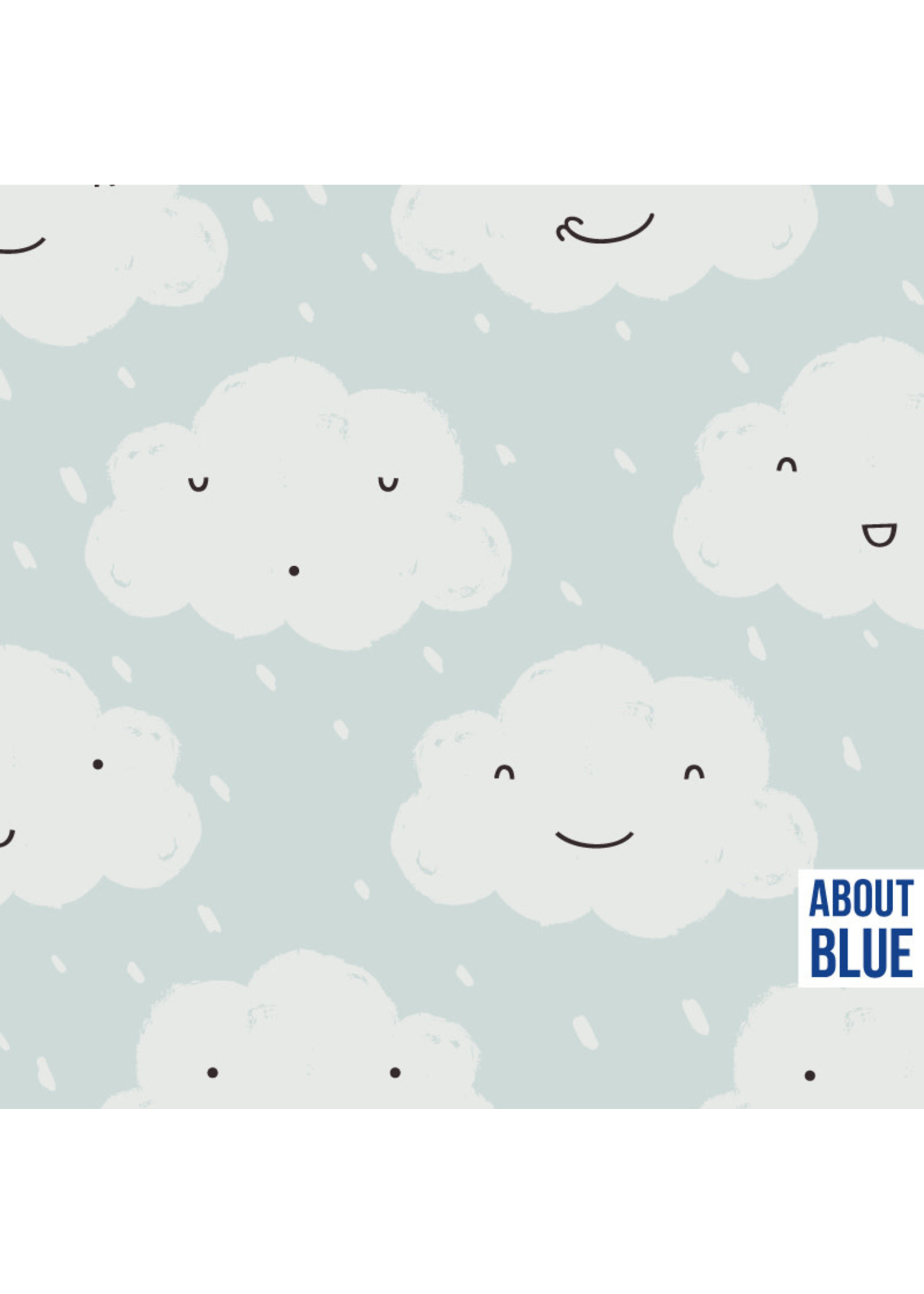 About Blue Fabrics Happy when it rains - French Terry