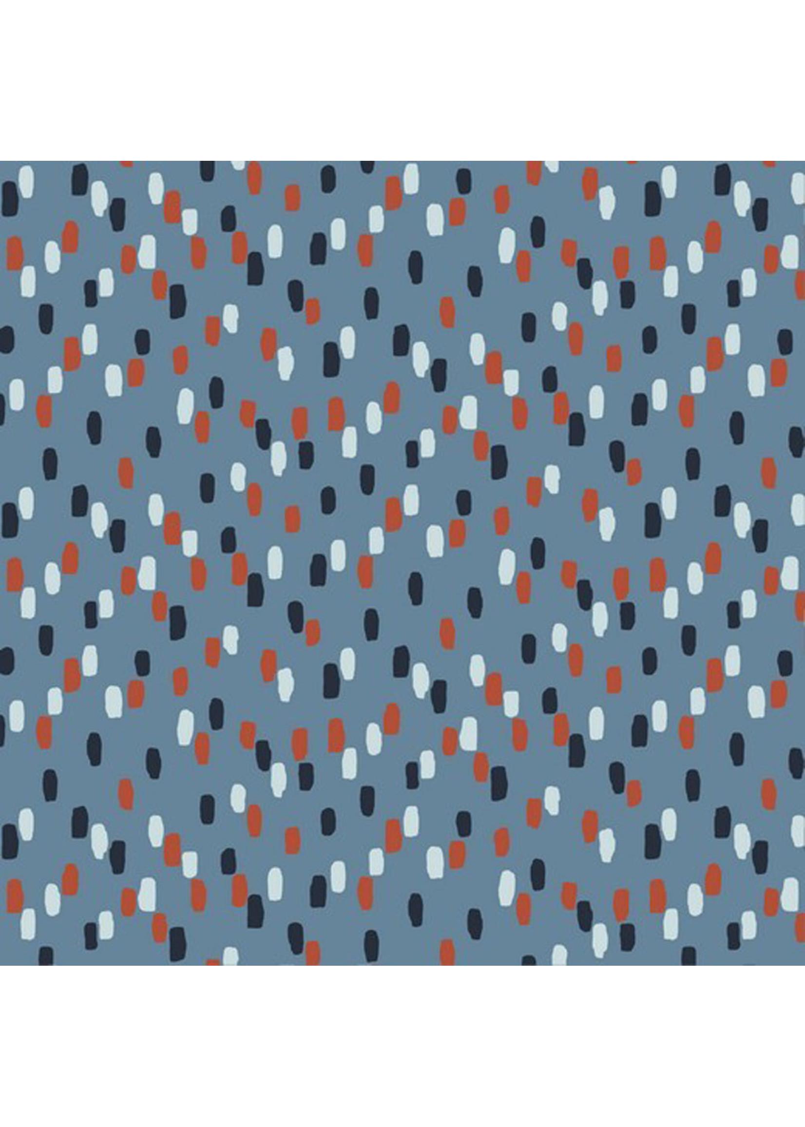 Poppy Indigo Stripes Soft Sweat (GOTS)