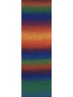 LangYarns Jawoll - Magic Dégradé - 0151 blauw/orange/groen