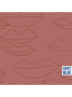 About Blue Fabrics Let's Kiss - Jersey